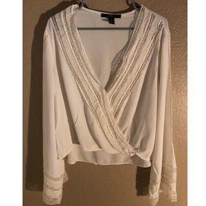Tops - Forever 21- Long Sleeve Lace Top